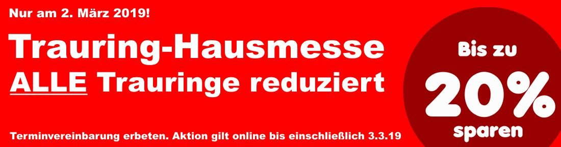 Banner Trauring-Hausmesse
