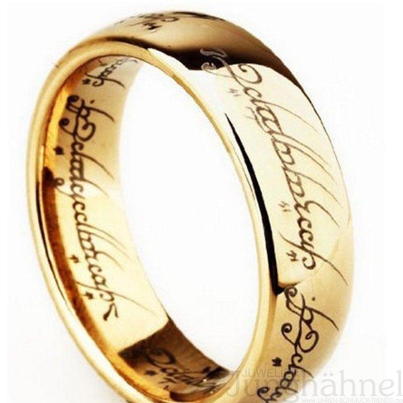 Original Ring Gold 333 Herr Der Ringe Lord Of The Rings Juwelier