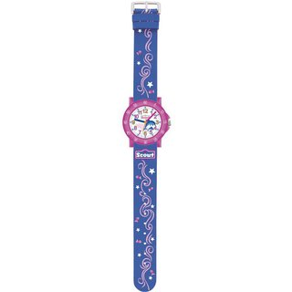 Scout Kinderuhr für Mädchen The IT-Collection Dolphin blau/pink 280375001