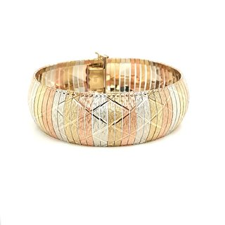 Armband, tricolor, Gold 333