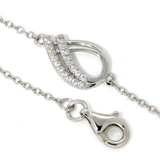 Silverglam Armband mit Zirkonia, 925 Silber 17+2cm - Juwelier Junghähnel c15645fc61
