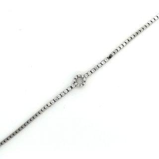 SILVERGLAM Armband mit Ring Silber mit Zirkonia Länge 17-20cm 219859a6d8