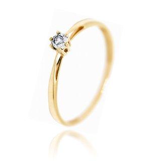 Antragsring Verlobungsring Solitar Ring Mit Diamant 14kt Gold 585