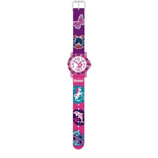 SCOUT Kinderuhr für Mädchen The IT-Collection Glitter pink/blau 280375017