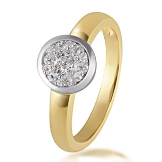 BRILLANTIS Brillantring Damenring 585 Gold mit Diamanten Weite 56